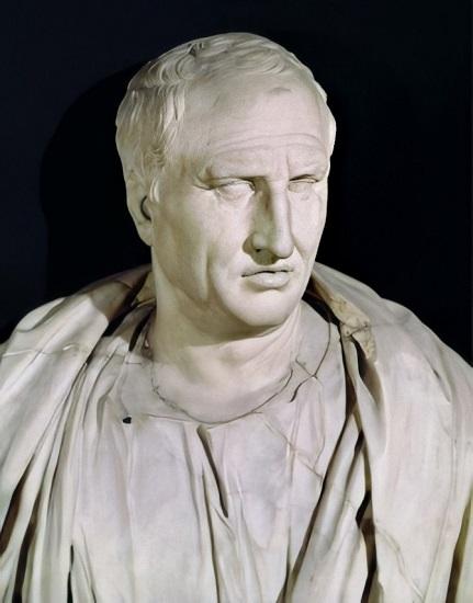 Busto de Marco Tulio Cicerón expuesto en los Museos Capitolinos de Roma