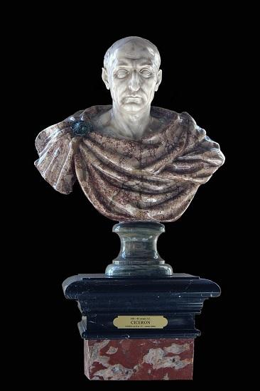 Busto de Cicerón, descubridor de la conjuración de Catilina, hecho en el siglo XVII