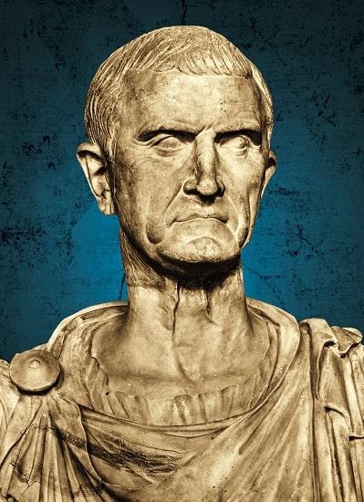 Busto del general Marco Licinio Craso expuesto en el Museo del Louvre, en París