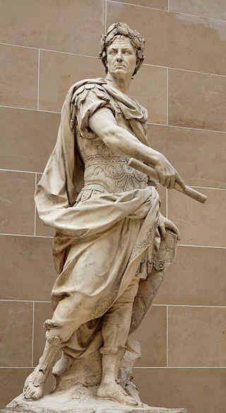Estatua de Julio César hecha por Nicolas Coustou en el siglo XVII