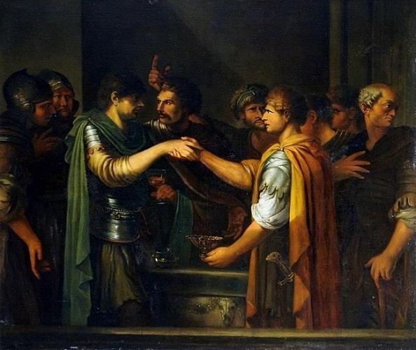La conjuración de Catilina, obra hecha por Joseph-Marie Vien a c-min