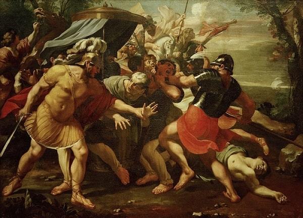 La muerte de Cicerón, obra realizada por François Perrier en 1635