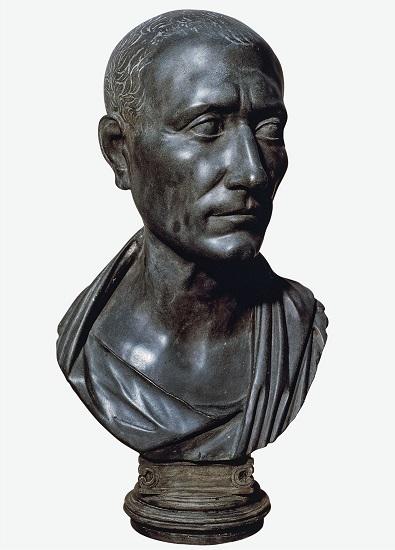 Busto de realizado en el consulado de Julio César