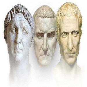 El Primer Triunvirato romano: Julio César, Pompeyo Magno y Craso