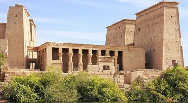 Templo de Filé o Philae, uno de los templos egipcios más famosos e importantes