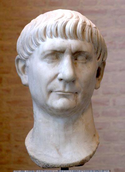 Busto del emperador romano Trajano, de origen hispano