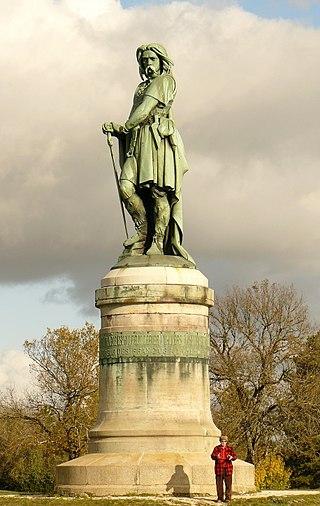 Estatua de Vercingétorix erigida en el siglo XIX en el pueblo de Alise-Sainte-Reine