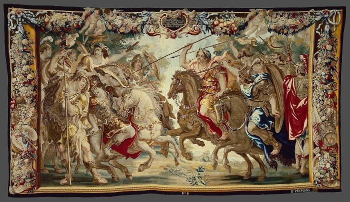 """""""Julio César vence a las tropas de Pompeyo"""", obra de Justus van Egmont hecha en el siglo XVII que podría narrar la batalla de Farsalia"""