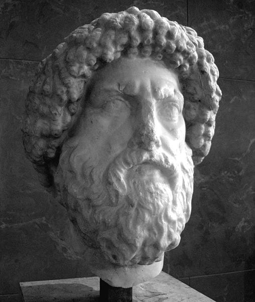 Busto del rey Juba I de Numidia, aliado de los pompeyanos en la batalla de Tapso