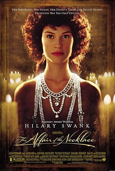 """Cartel en inglés de la película """"El misterio del collar"""""""