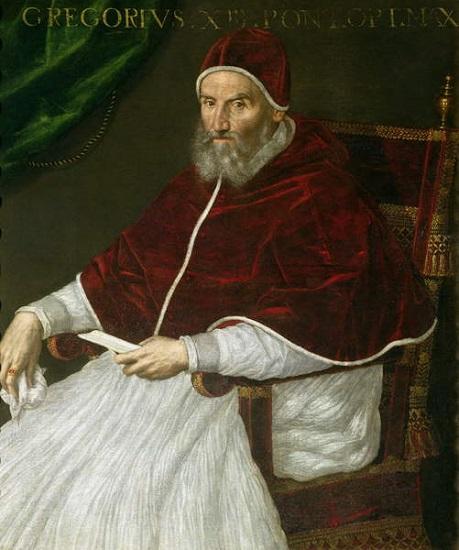 Retrato del papa Gregorio XIII, que quitó el calendario adoptado en la dictadura de Julio César
