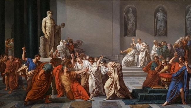 El asesinato de Julio César en los idus de marzo (1798), de Vincenzo Camuccini