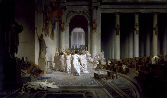 """Muerte de Julio Cesar"", obra hecha por Jean Leon Gerome en 1867"