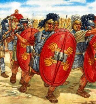 Ilustración que recrea un momento de la batalla de Zela entre Julio César y Farnaces II