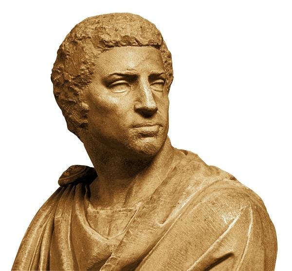 Busto de Marco Junio Bruto hecho por Miguel Ángel en 1539