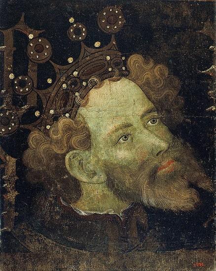 Retrato de Pedro IV de Aragón, uno de los enfrentados en la guerra de los Dos Pedros, hecho en el siglo XV