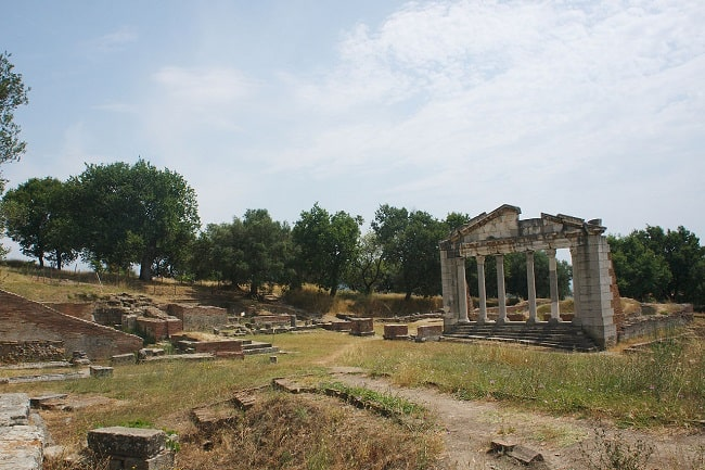Vista parcial del yacimiento arqueológico de Apolonia, donde estudió Cayo Octavio
