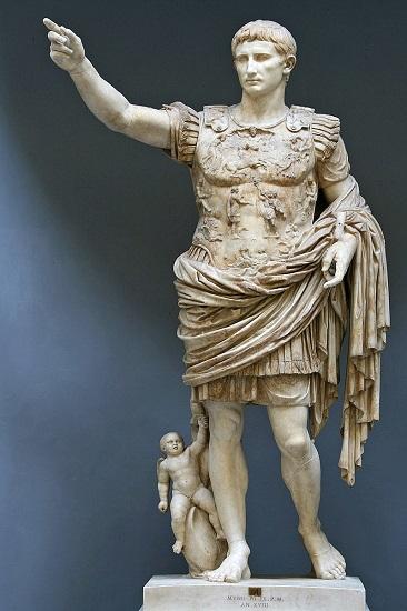 Augusto de Prima Porta, la estatua más famosa de Octaviano, el futuro emperador César Augusto
