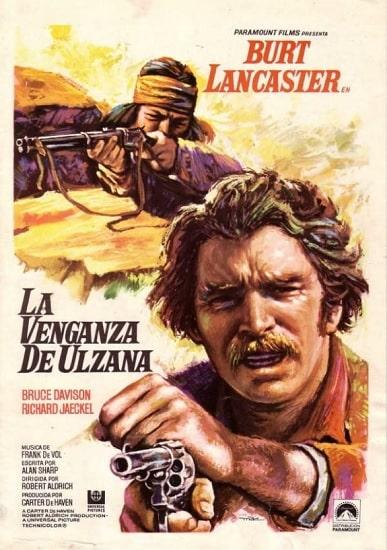 Cartel español de La venganza de Ulzana