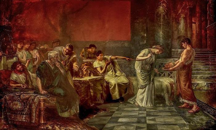 Fulvia y Marco Antonio, obra de Francisco Maura y Montaner hecha a finales del siglo XIX