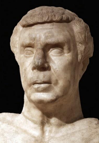 Busto de Lucio Munacio Planco, uno de los oficiales cesarianos que se unieron a Marco Antonio en la batalla de Mutina