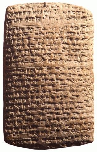 Una de las tablillas halladas en el archivo de Amarna que menciona a los habiru