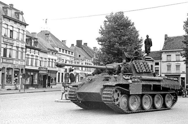 Uno de los panzer de Hitler