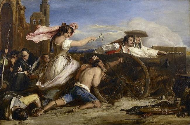 agustina de aragón, una de las protagonistas de Guerra y cuchillo