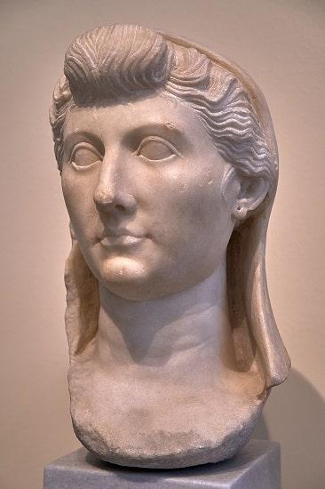 Busto de Livia Drusila, esposa de Augusto, conservado en el Museo Arqueológico Nacional de Atenas