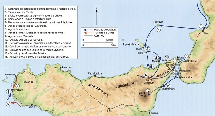Campaña de Octaviano contra Sexto Pompeyo en la Sicilia del año 36 a.C