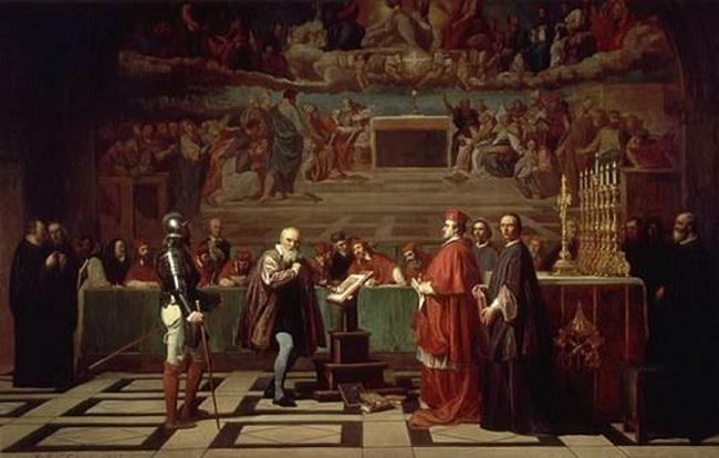 Galileo ante el Santo Oficio, obra de Joseph-Nicolas Robert-Fleury hecha en el siglo XIX