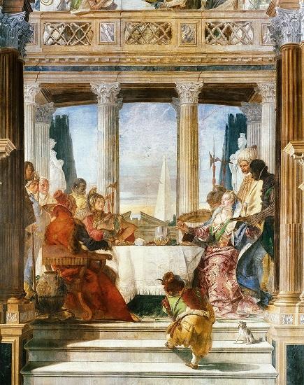 Otro de los cuadros de Giambattista Tiepolo en su serie sobre los banquetes