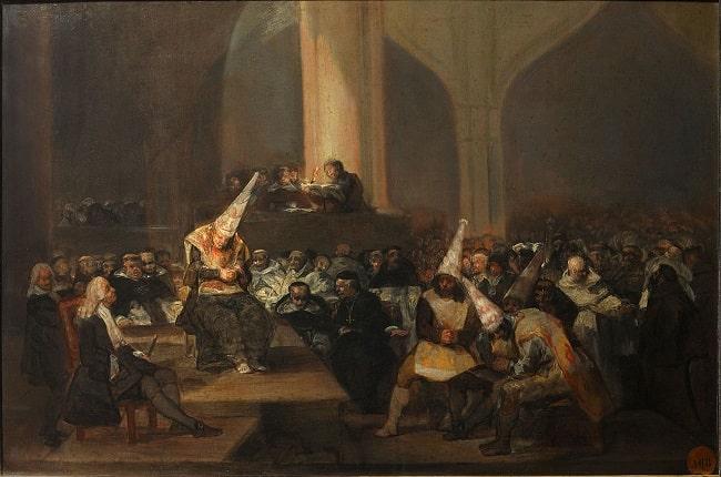 Auto de fe de la Inquisición, obra de Francisco de Goya hecha a principios del siglo XIX
