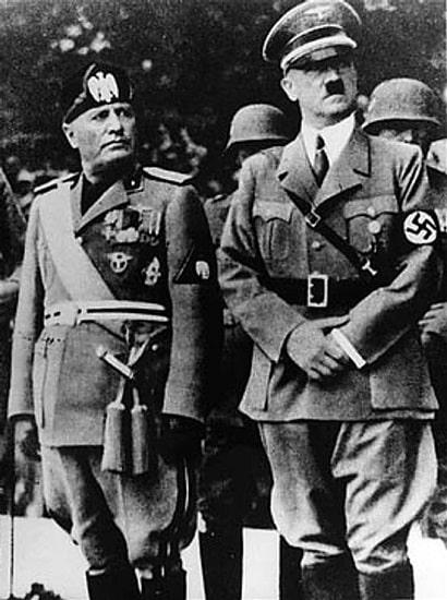 Benito Mussolini y Adolf Hitler, líderes del fascismo italiano y el nazismo alemán