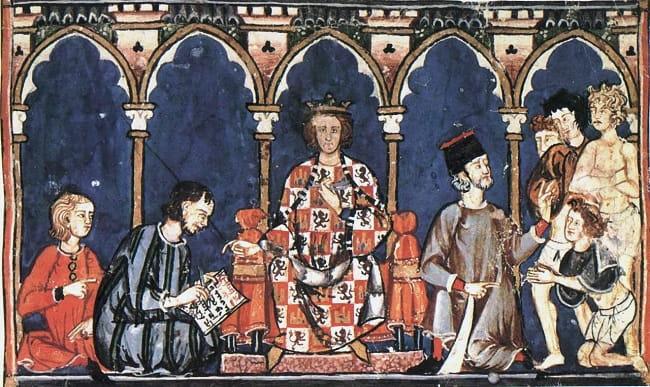 El rey de Castilla y León en la Primera Crónica General de Alfonso X (2a mitad del siglo XIII).