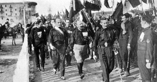 La Marcha sobre Roma (1922) congregó a miles de camisas negras