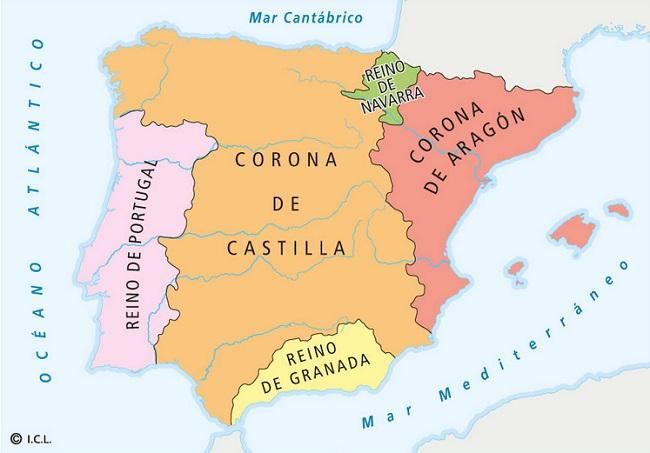 La península Ibérica tras la expansión cristiana del siglo XIII, antecedentes de la batalla de las navas de tolosa