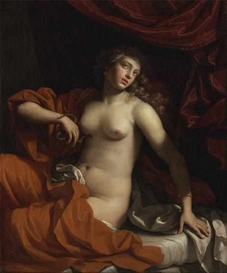Obra de Benedetto Gennari hecha en el siglo XVII que representa el suicidio de Cleopatra