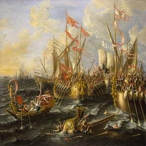 La batalla de Accio (31 a.C.): Octaviano contra Marco Antonio y Cleopatra