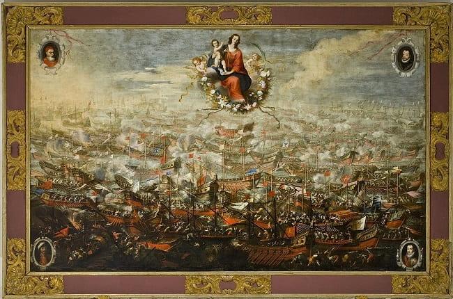 Batalla de Lepanto, obra hecha por Juan de Toledo y Mateo Gilarte a mediados del siglo XVII
