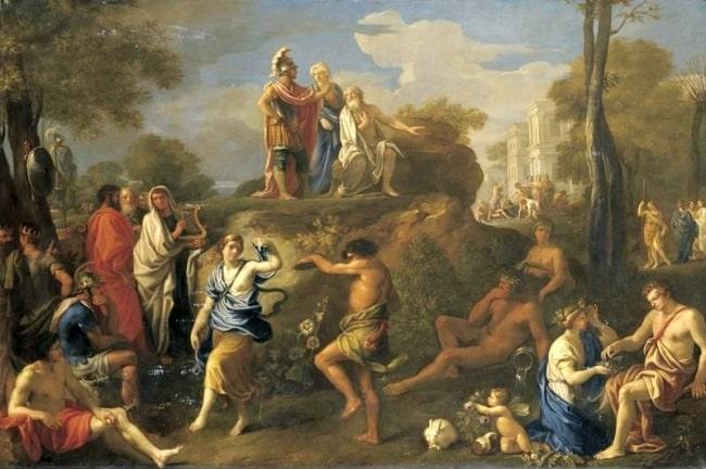 Eneas y Anquises en el Hades, obra de Alexandre Ubeleski hecha en el siglo XIX