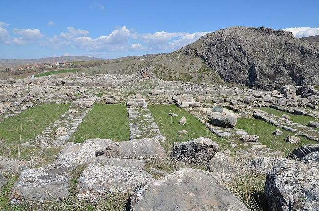 Yacimiento arqueológico del gran templo de Hattusa, capital del imperio hitita