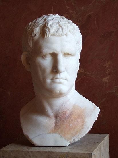 Busto de Marco Agripa conservado en el Museo del Louvre de París