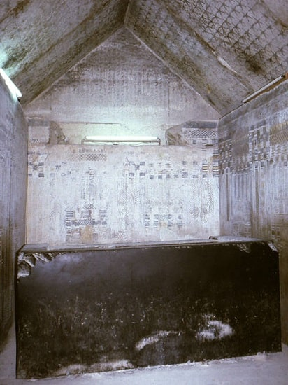 Cámara funeraria de la pirámide de Unas