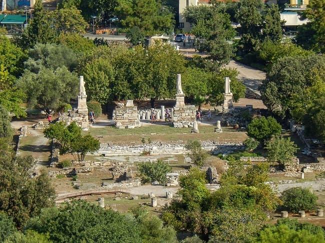 Estado actual de los restos del Odeón de Atenas