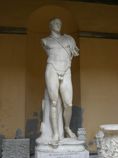 Estatua de Marco Agripa conservada en el Museo Arqueológico de Venecia