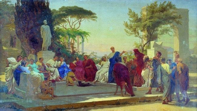 Horacio lee, obra de Fedor Bronnikov hecha en el siglo XIX