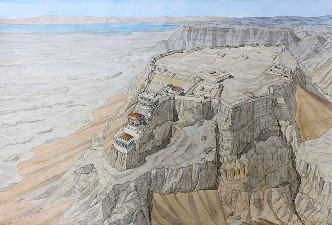 Reconstrucción digital de la fortaleza de Masada, una de las más importantes de Herodes el Grande