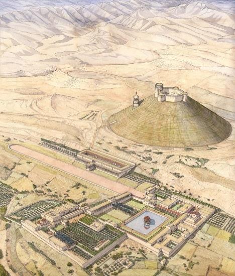 Reconstrucción digital del Herodión, la tumba de Herodes el Grande