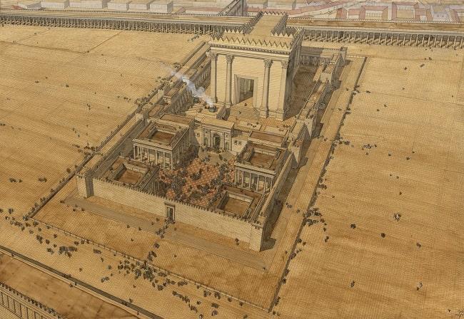 Reconstrucción digital del Templo de Salomón reconstruido por Herodes el Grande
